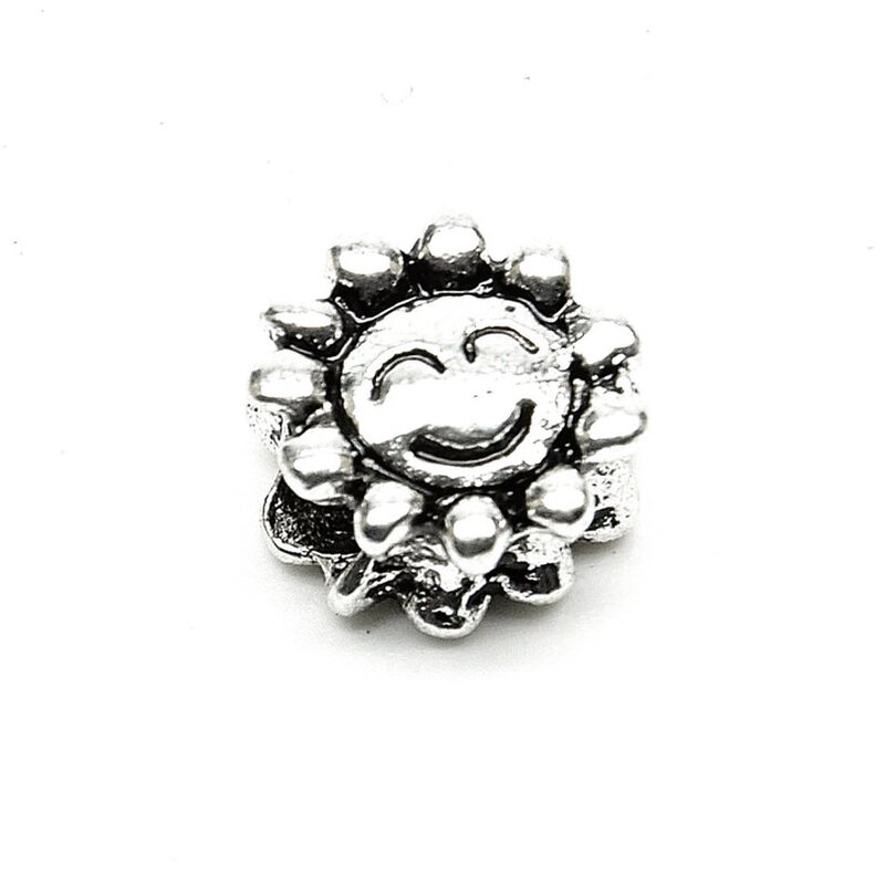 Antiksilber Bead Smiley Blume