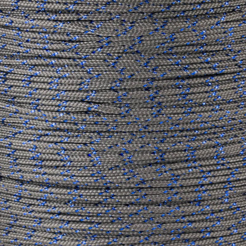 Paracord Typ 1 charcoal grey blue metal x