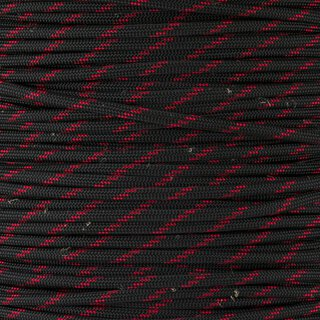Paracord Typ 3 thin red line - Fish & Fire, mit Jute...