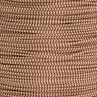 Paracord Typ 1 chocolate brown / cream shockwave