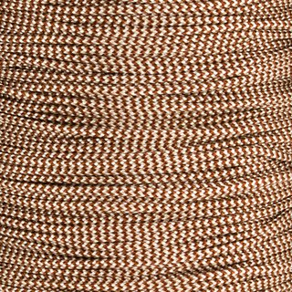 Paracord Typ 2 chocolate brown / cream shockwave