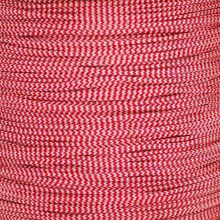 Paracord Typ 1 imperial red / white shockwave