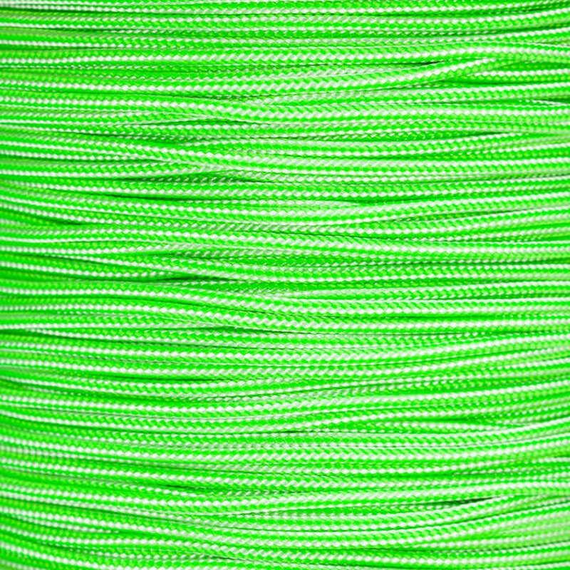 Paracord Typ 2 white / neon green stripe