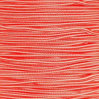 Paracord Typ 2 white / neon orange stripe