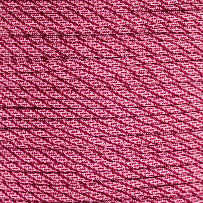 Paracord Typ 3  Helix DNA  rose pink - burgundy