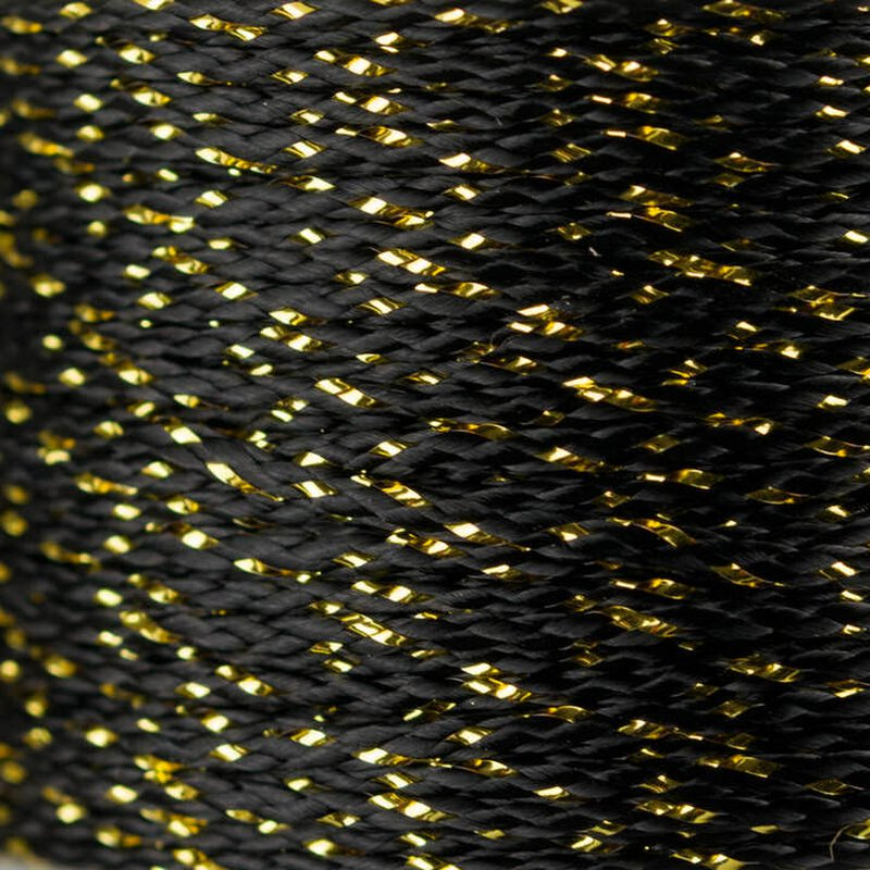 MicroCord 1.18mm black / gold metal x
