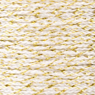 MicroCord 1.18mm white / gold metal x