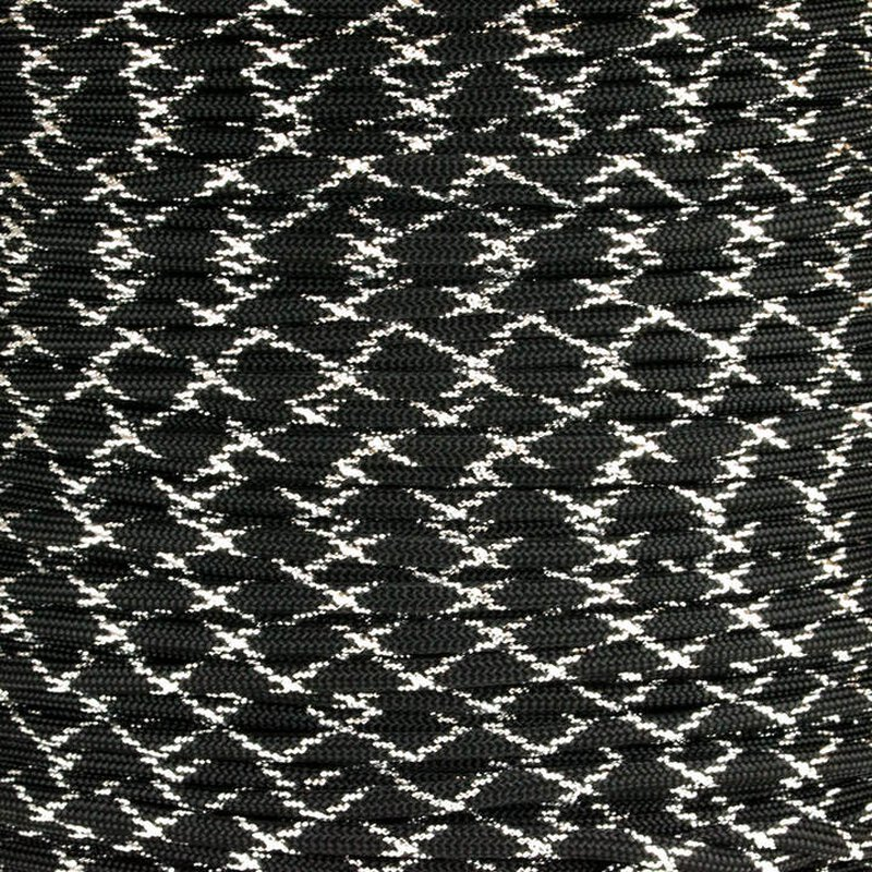 Paracord Typ 3 black / silver metal x - dark knight