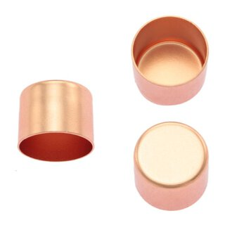 Seilendkappe aus Messing - rosé gold 12 mm