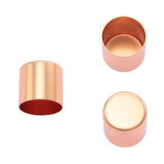 Seilendkappe aus Messing - rosé gold 10 mm
