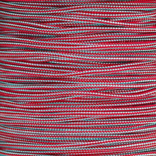 Paracord Typ 2 turquoise / imperial red stripe