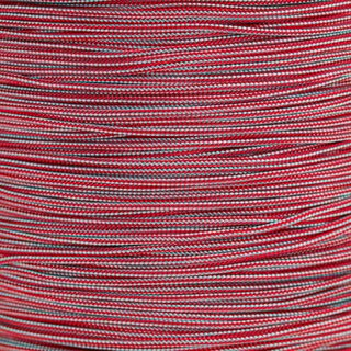 Paracord Typ 1 turquoise / imperial red stripe