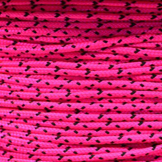 Paracord Typ 1 neon pink w/ black x
