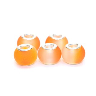 Glasbead Halbton - 5er Set orange