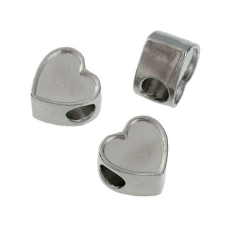 Antiksilber Bead Heart