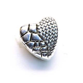 Antiksilber Bead Broken Heart