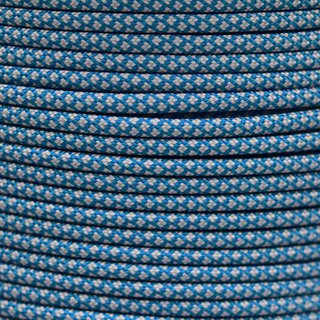 Paracord Typ 3 caribbean blue silver diamonds