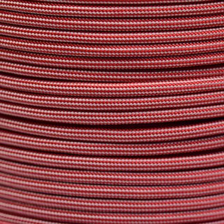 Paracord Typ 3 imperial red / silver grey stripe