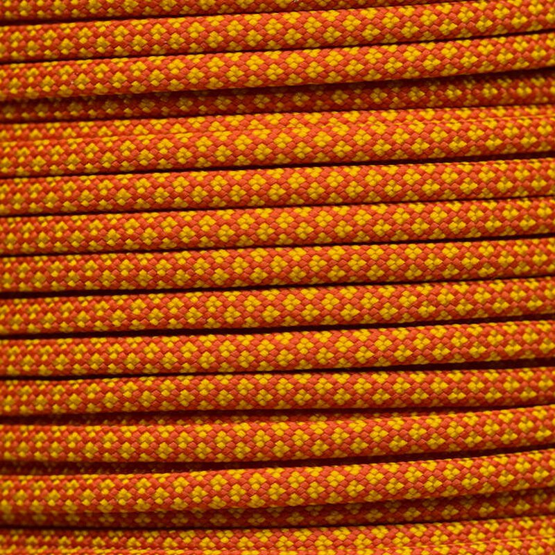Paracord Typ 3 solar orange goldenrod diamonds