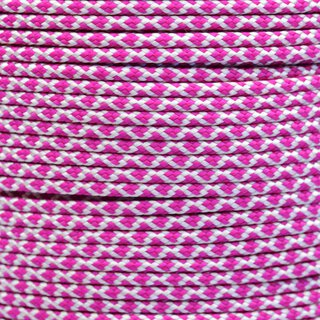 Paracord Typ 2 cream fuchsia diamonds