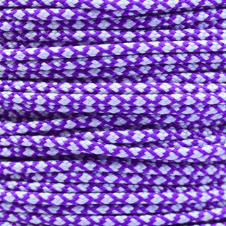 Paracord Typ 2 acid purple silver diamonds