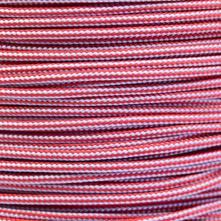 Paracord Typ 2 imperial red silver grey stripe