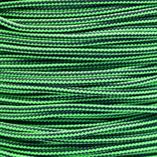 Paracord Typ 2 neon green black stripe