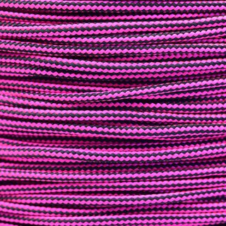 Paracord Typ 2 neon pink black stripe
