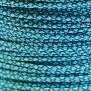 Paracord Typ 1 charcoal grey mint diamonds