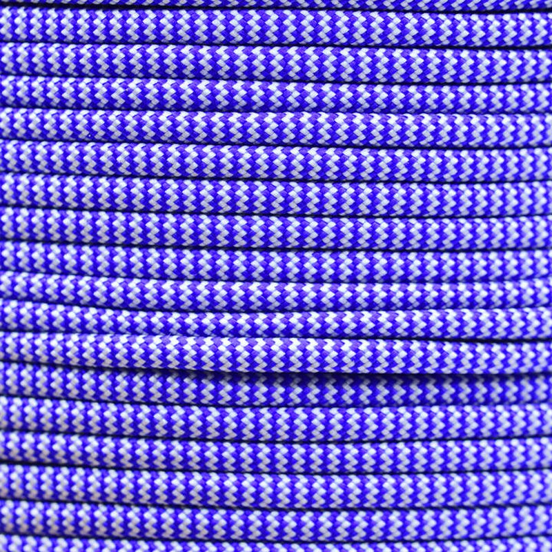 Paracord Typ 3 electric blue / silver grey shockwave