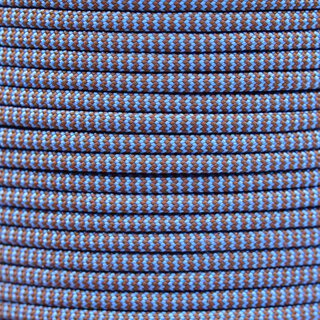 Paracord Typ 3 chocolate brown baby blue shockwave