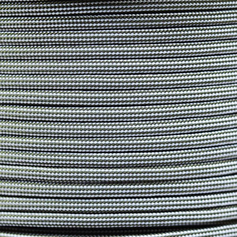 Paracord Typ 3 silver grey / olive darb stripe