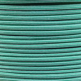 Paracord Typ 3 kelly green / silver grey stripe