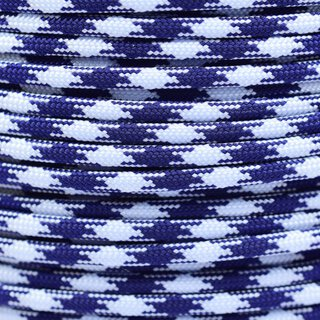 Paracord Typ 3 midnight blue & white