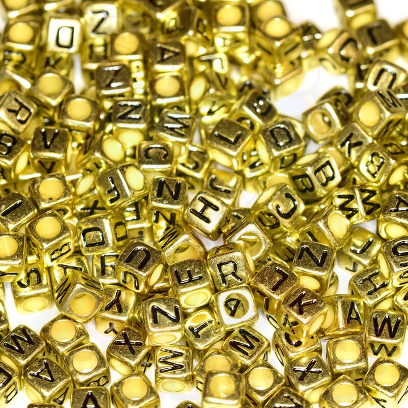 Letterbeads gold 30g / 210stk.