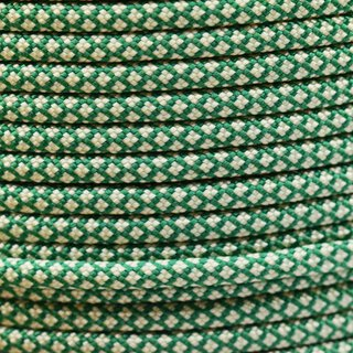 Paracord Typ 3 kelly green cream diamonds
