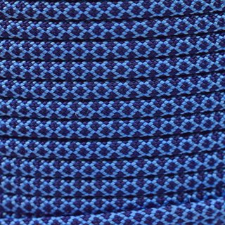 Paracord Typ 3 baby blue midnight blue diamonds