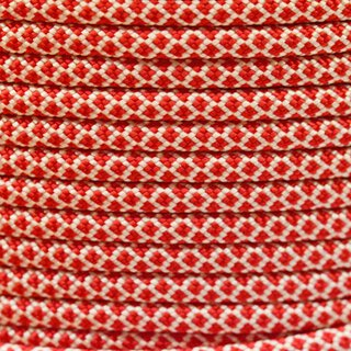 Paracord Typ 3 cream imperial red diamonds
