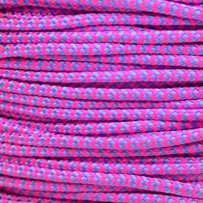 Paracord Typ 2 neon pink / baby blue shockwave