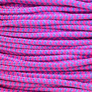 Paracord Typ 2 neon pink baby blue shockwave