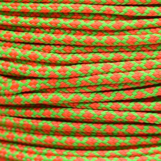 Paracord Typ 2 neon green neon orange diamonds