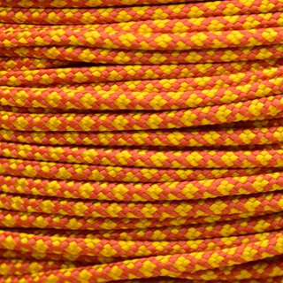 Paracord Typ 2 solar orange goldenrod diamonds