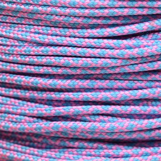 Paracord Typ 2 rose pink turquoise diamonds