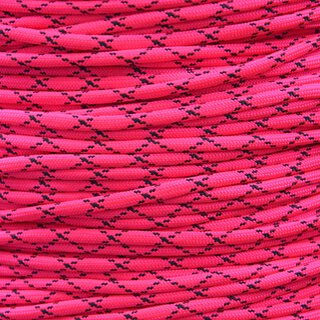 Paracord Typ 3 neon pink /w black x