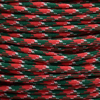 Paracord Typ 3 holly jolly