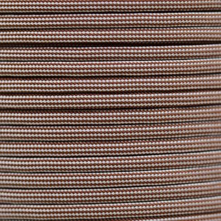 Paracord Typ 3 chocolate brown / cream stripe