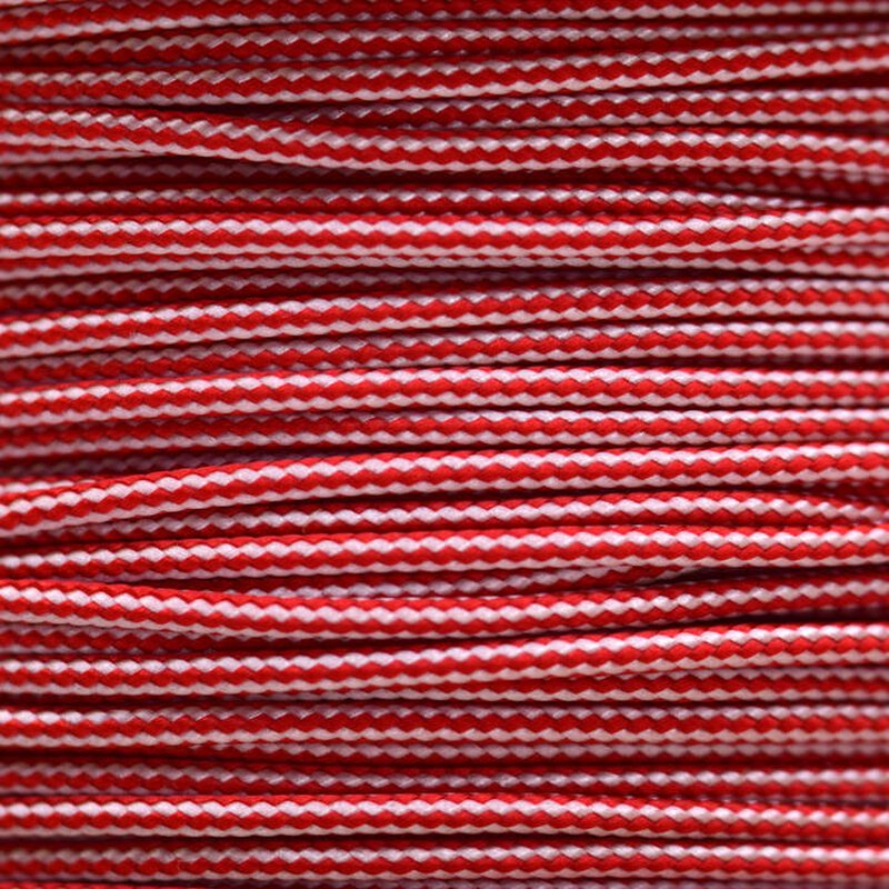 Paracord Typ 1 imperial red white stripe