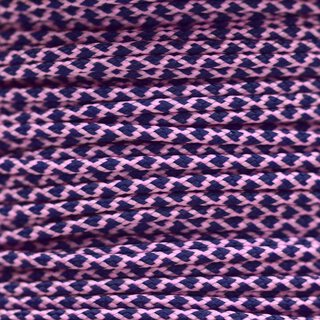 Paracord Typ 1 rose pink midnight blue diamonds