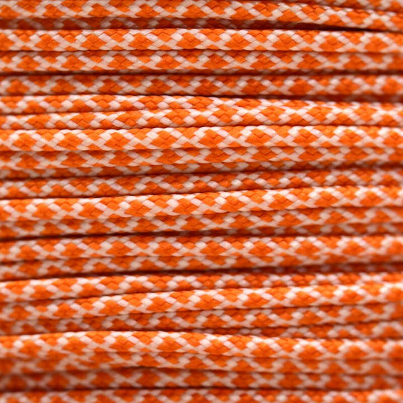 Paracord Typ 1 cream international orange diamonds
