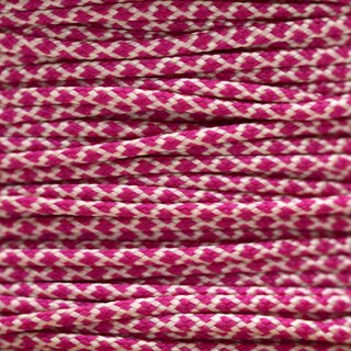 Paracord Typ 1 cream fuchsia diamonds